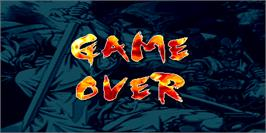 Game Over Screen for The Killing Blade.