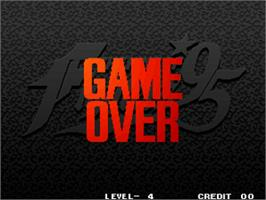 Game Over Screen for The King of Fighters '95.