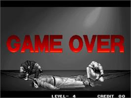 Game Over Screen for The King of Fighters '96.