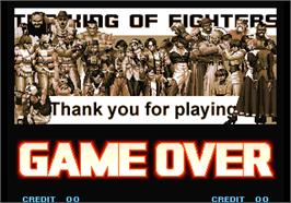 Game Over Screen for The King of Fighters 10th Anniversary.