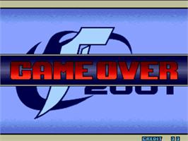 Game Over Screen for The King of Fighters 2001.