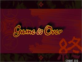 Game Over Screen for The Last Soldier.