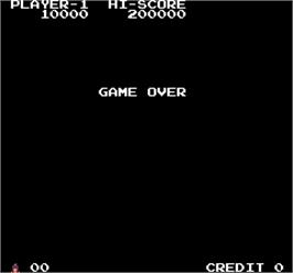 Game Over Screen for The Legend of Kage.