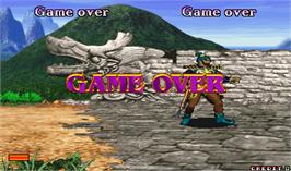 Game Over Screen for The Legend of Silkroad.