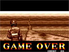 Game Over Screen for Thrash Rally.