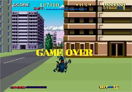 Game Over Screen for Thunder Blade.
