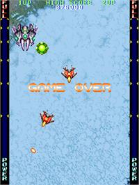 Game Over Screen for Thunder Blaster.