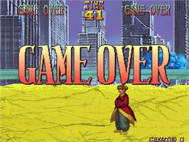 Game Over Screen for Thunder Heroes.