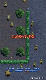 Game Over Screen for Thundercade / Twin Formation.