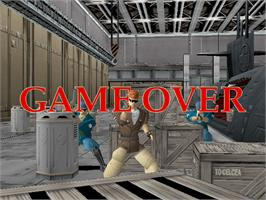 Game Over Screen for Time Crisis.