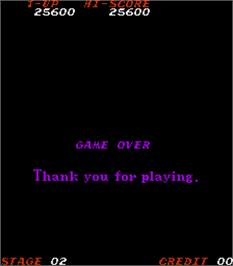 Game Over Screen for Time Pilot '84.