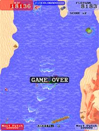 Game Over Screen for Toobin'.