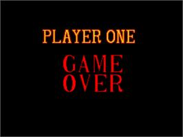 Game Over Screen for Top Player's Golf.