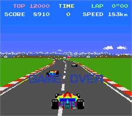 Game Over Screen for Top Racer.