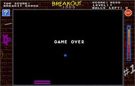 Game Over Screen for Touchmaster 3000.