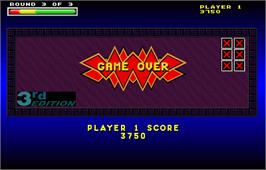Game Over Screen for Touchmaster 4000.