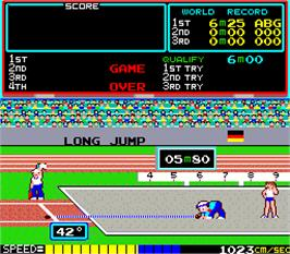 Game Over Screen for Track & Field.