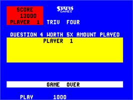 Game Over Screen for Triv Four.