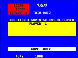 Game Over Screen for Triv Quiz.