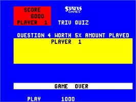 Game Over Screen for Triv Two.
