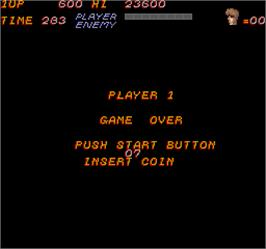 Game Over Screen for Trojan.