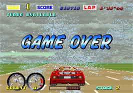Game Over Screen for Turbo Out Run.