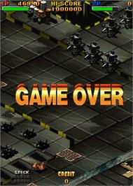 Game Over Screen for Twin Eagle II - The Rescue Mission.