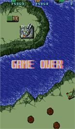 Game Over Screen for Twin Hawk.