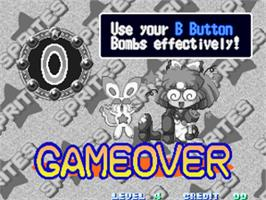 Game Over Screen for Twinkle Star Sprites.