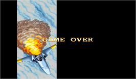 Game Over Screen for U.N. Squadron.