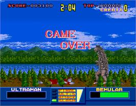 Game Over Screen for Ultraman.