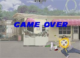 Game Over Screen for Under Fire.