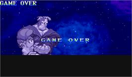 Game Over Screen for Vampire: The Night Warriors.