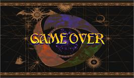Game Over Screen for Vampire Savior: The Lord of Vampire.