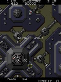 Game Over Screen for Vanguard II.