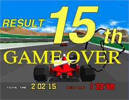 Game Over Screen for Virtua Racing.