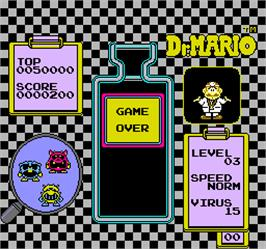Game Over Screen for Vs. Dr. Mario.