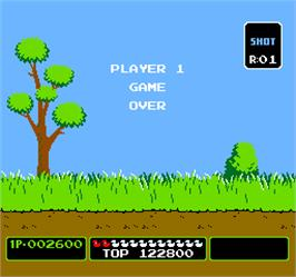 Game Over Screen for Vs. Duck Hunt.