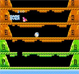 Game Over Screen for Vs. Ice Climber.