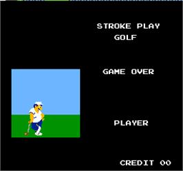 Game Over Screen for Vs. Stroke & Match Golf.
