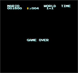 Game Over Screen for Vs. Super Mario Bros..