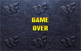 Game Over Screen for WWF: Wrestlemania.