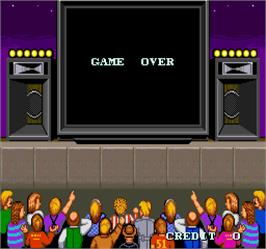 Game Over Screen for WWF Superstars.