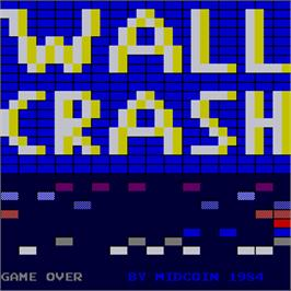 Game Over Screen for Wall Crash.