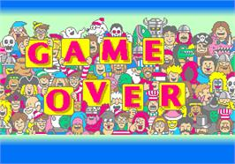 Game Over Screen for Wally wo Sagase!.