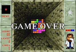 Game Over Screen for Welltris.