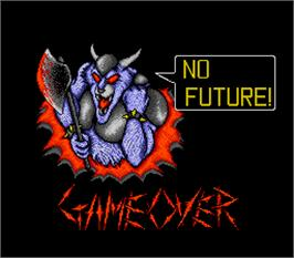 Game Over Screen for Wild Fang / Tecmo Knight.