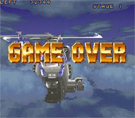 Game Over Screen for Wild Pilot.