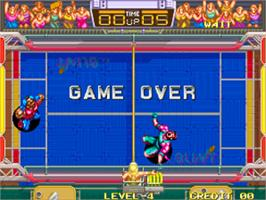 Game Over Screen for Windjammers / Flying Power Disc.