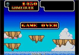 Game Over Screen for Wonder Boy III - Monster Lair.